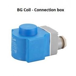 110V Danfoss spoel voor EVR magneet afsluiter met DIN pluggen en beschermkap IP67 018F6813