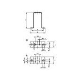 Elco 109x78x39 Universal attachment support, right