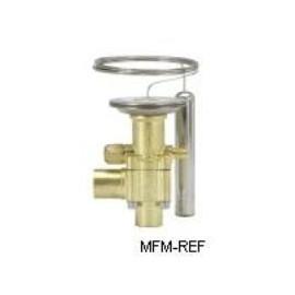 """TES55 Danfoss R404A-R507 thermostatische expansieventiel 1/4"""" flare 067G3301"""