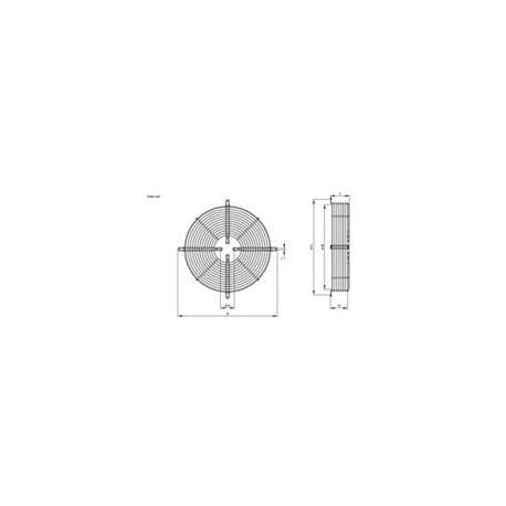 type 2 motor R09 200mm Hidria bevestigingsrooster plaat bevestiging