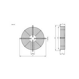 moteur type 2 R09 250mm Hidria montage sur plaque de montage sur grille