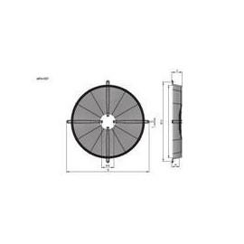 type 1 motor R13 630mm Hidria montage de la plaque de grille de montage