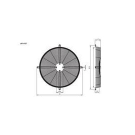 type 1 motor R13 630mm Hidria mounting grid plate mounting
