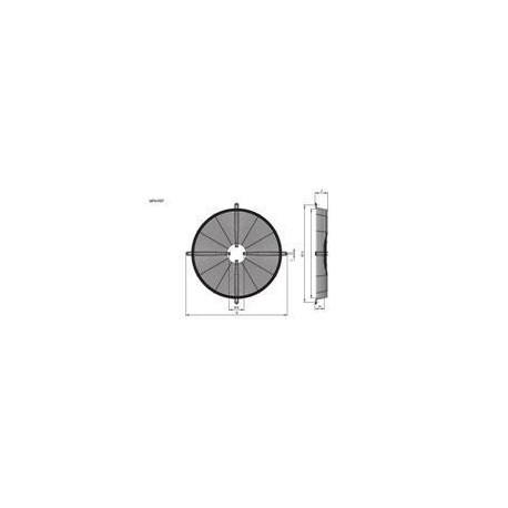 type1 motor R13 630mm Hidria bevestiging rooster plaat bevestiging