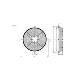 type 4  R18 710mm grille Hidria fixation au bord de la grille
