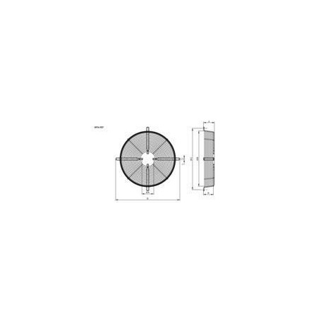 tipo 4 motor R18  710mm fixação da grade, fixação da borda