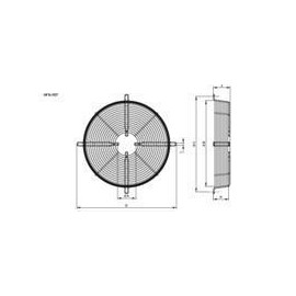 type 4 motor Hidria R18 800 mm grille mounting, edge mounting