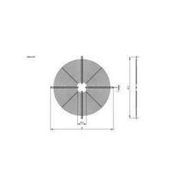 type 5 Hidria motor R11 450mm bevestiging rooster, vlakke uitvoering