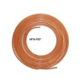 """1/4 """"refrigerantes tubos de cobre por rolo 15 m"""