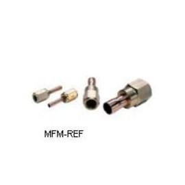 "FSA-44 Danfoss 1/2 ""stainless ste el/CU Flare adaptor Gradient flare connections-solder"