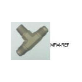 A-31512 Refco T-stuk válvulas Schrader 1/4 SAE x 1/8 NPT x 1/4 SAE