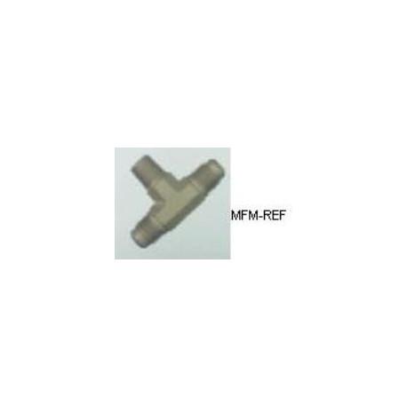 A-31512 Refco T-stuk Schrader 1/4 SAE x 1/8 NPT x 1/4 SAE