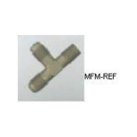 A-31452 Refco T-stuk válvulas Schrader 1/8 NPT x 1/4 SAE x 1/4 SAE