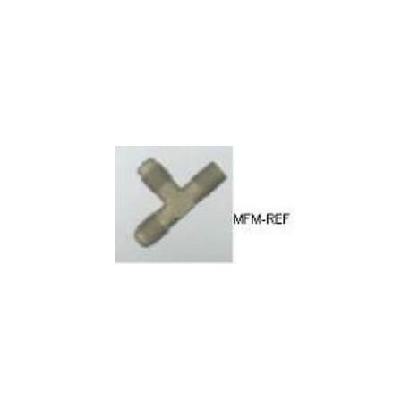 """A-31452 Refco Tee válvula Schrader 1/8""""NPT x 1/4""""SAE x 1/4""""SAE"""