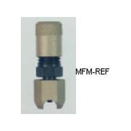 A-31910 Refco válvula Schrader para 5/8 tubos externamente, solda