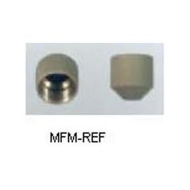 """NFT5-4 tappo di chiusura con o-ring 1/4"""" SAE"""