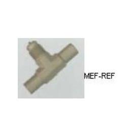 A-31134 T-stuk schraderventiel messing 1/4 x 3/8 Ø