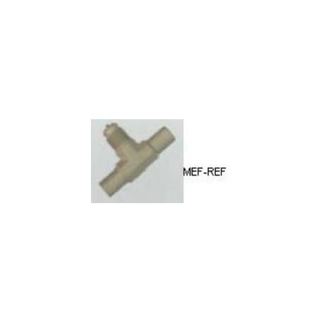 A-31134 Pezzo T valvola Schrader ottone 1/4 x 3/8  Ø