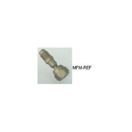 """A-31734 válvula Schrader 1/4""""SAE x 1/4""""SAE com porca de acoplamento solto"""