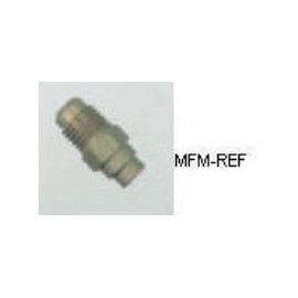A-31720 Refco Schräder valves, Schräder x soudure, pour tuyau  3/16, 1/4, 3/8 Ø