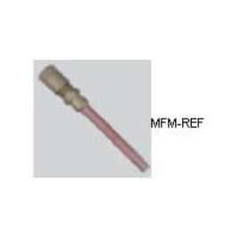 """A-31002 Refco Schräder valves, 1/8"""" schräder x tuyauterie en cuiv"""