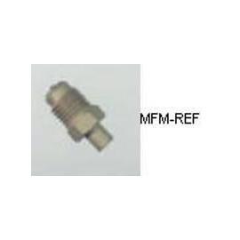 """A-31722 Refco schraderventiel 1/8"""" x 1/4"""" Ø schräder x soldeer"""