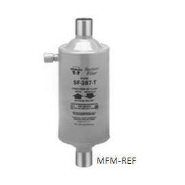 """SF-489-T Sporlan 1.1/8"""" ODF d'aspiration de filtre en ligne Modèle fermé avec raccord du manomètre"""