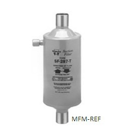 SF-6421-T Sporlan 2.5/8 ODF d'aspiration de filtre en ligne Modèle fermé avec raccord du manomètre