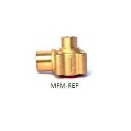"""TE12/20 Danfoss carcaça da válvula 7/8""""ODFx1.1/8""""ODM para TE12 ângulos rectos . 067B4023"""