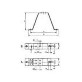support de montage 123mm EBM  M4Q045CA0141+CA0375