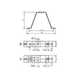 support de montage 123mm EBM  M4Q045CA0141 & CA0375