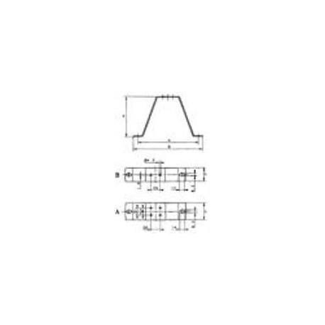 suporte de montagem 123mm EBM voor M4Q045CA0141 & CA0375