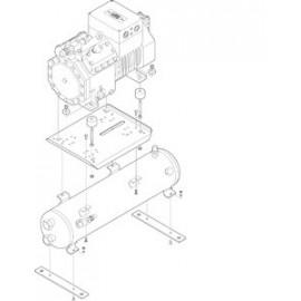 Piastra di montaggio 320366-01 per compressor Bitzer 2KC-05.2Y....4CC-9.2Y