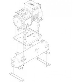 320366-02 Bevestigingsplaat voor compressor Bitzer 2KC-05.2Y....6F50.2Y