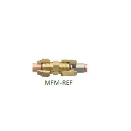 """FA-4 x 3 gradiente attacco 1/2 """"SAE x 3/8"""" ODF in acciaio inox/CU saldatura + anello"""
