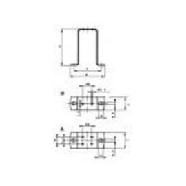Elco 84x106x24  universale staffa di montaggio supporto diritto 1.038-113-B