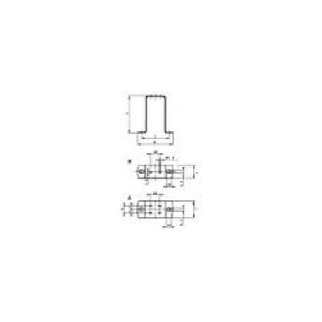 Elco 52x106x24  universel support de montage support droit 1038103