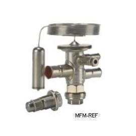 TUAE Danfoss R22 3/8 x 1/2 válvula termostática de la extensión, rango N de -40 ° a +10°C sin MOP Danfoss nr.068U2237