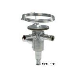 TUB4 Danfoss R134a 1/4x1/2 thermostatische expansieventiel RVS 068U2030