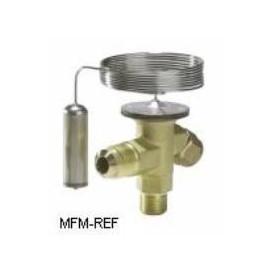 TX2 Danfoss R22 3/8x1/2 válvula de expansão termostática com passagem permutáveis.068Z3209
