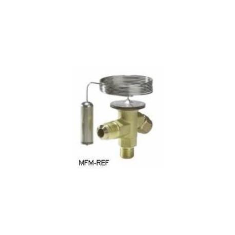 TX2 Danfoss R22-R407C 3/8x1/2 thermostatische expansieventiel verwisselbare doorlaat. 068Z3224