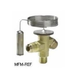 TES 2 Danfoss R404A-R507 3/8x1/2 thermostatisch expansieventiel verwisselbare doorlaat Danfoss nr.068Z3407