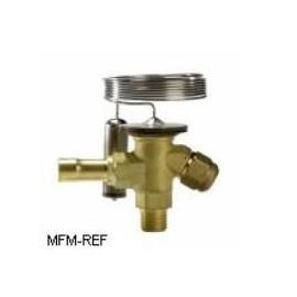 TEX2 Danfoss R22 3/8x1/2 thermostatische expansieventiel verwisselbare doorlaat flare x soldeer.068Z3284