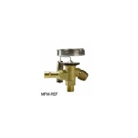 TES2 Danfoss R404A-R507 3/8x1/2 thermostatische expansieventiel verwisselbare doorlaat flare x soldeer Danfoss nr.068Z3442