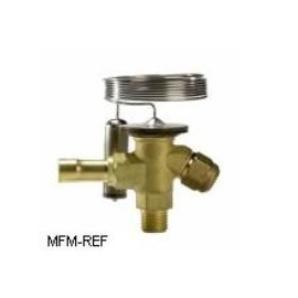 TS2 Danfoss R404A-R507 3/8x1/2 thermostatische expansieventiel verwisselbare doorlaat flare x soldeer.068Z3420