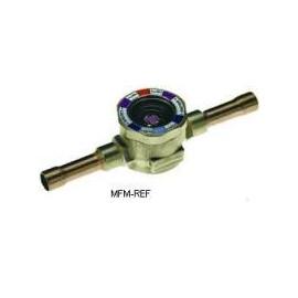 """AMI-1 TT7 Alco kijkglas 7/8""""-22 mm ODF Inwendig/inwendig extra lange koperen soldeeraansluitingen. met vochtindicator"""