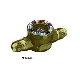 """AMI-1 MM2 Alco kijkglas 1/4""""  Uitwendig/uitwendig flare. met vochtindicator"""