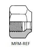 koper wartelmoer voor koeltechniek voor het monteren van koelinstallaties