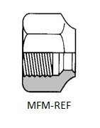 Union nut for cooling technique for assembling refrigeration