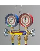 Manifold refrigeration pressure R134A, R410A, R404A